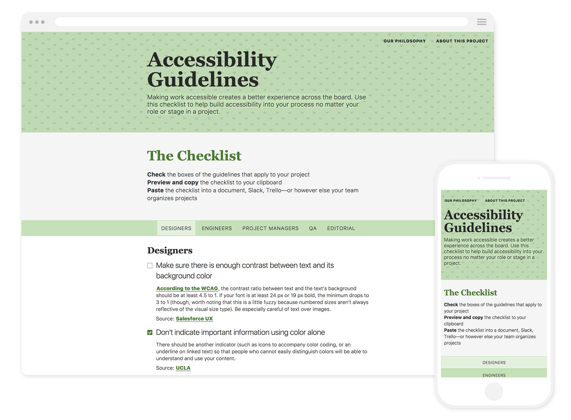 Image of the Accessibility Guidelines website