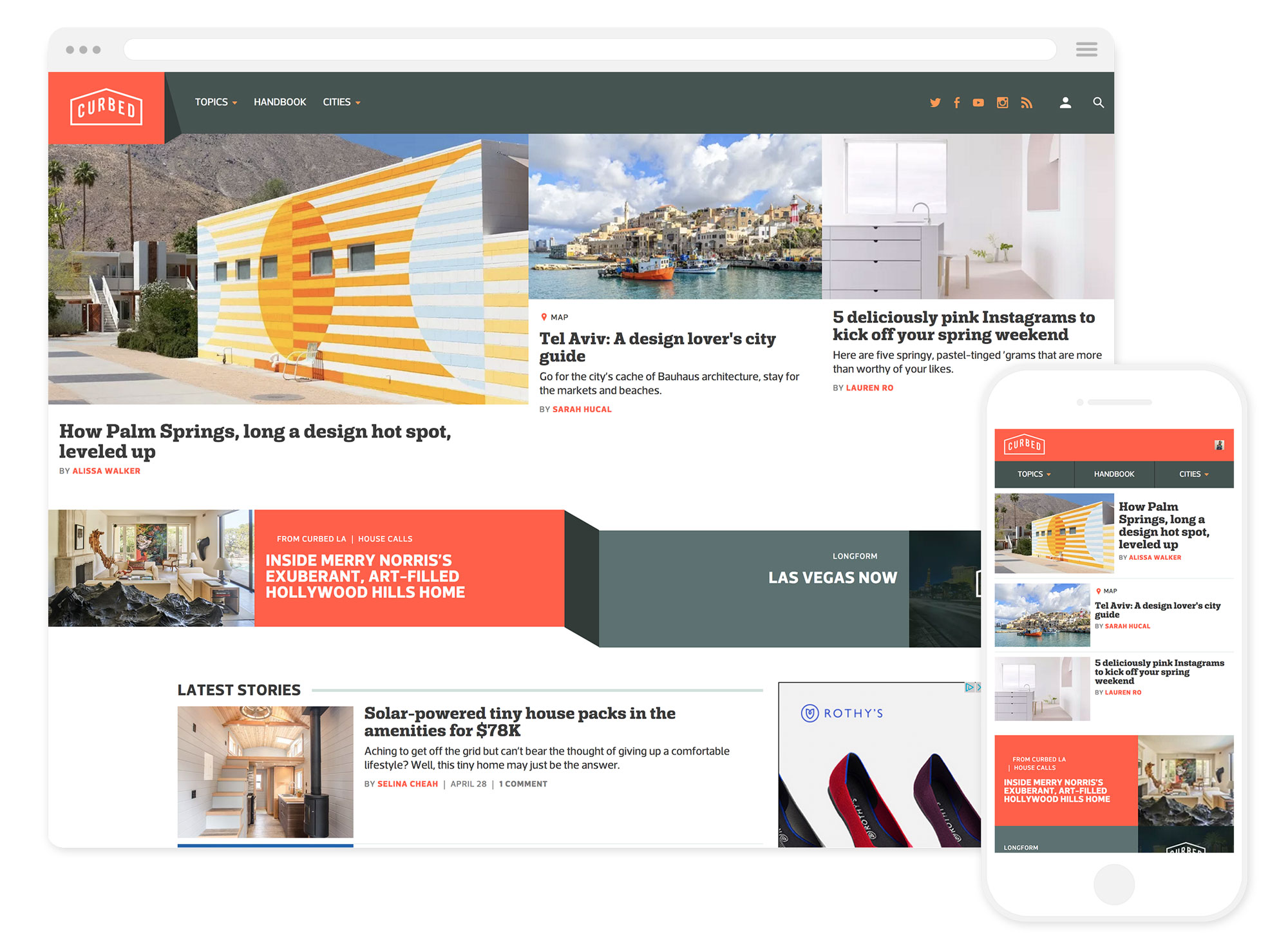 Curbed's homepage
