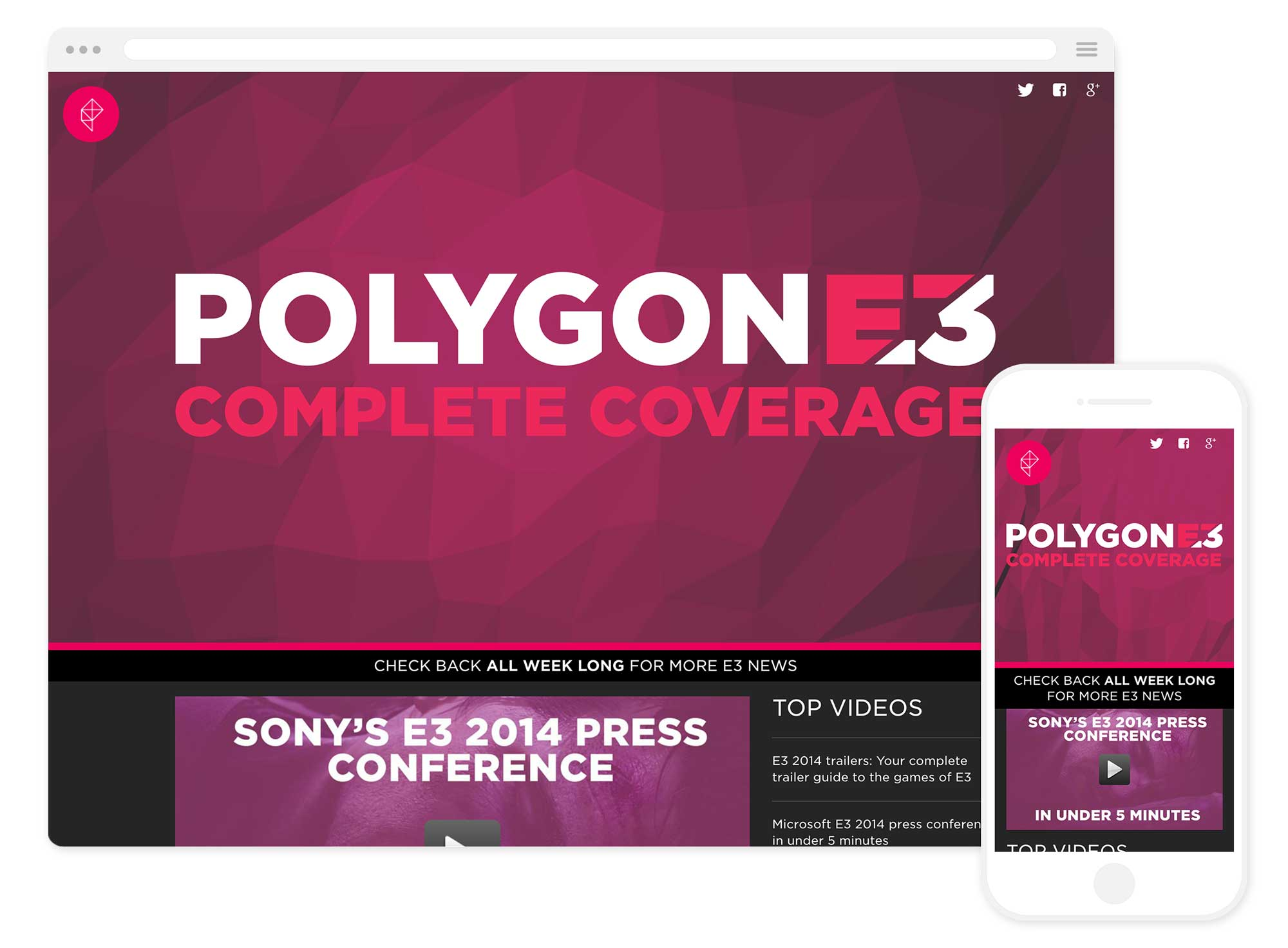 Image of the Polygon E3 website